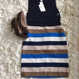 Ann Taylor midi lined skirt
